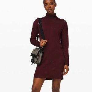 NEW Lululemon Softer Still Dress (Garnet color)